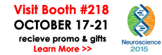 Neuroscience 2015, visit our BOOTH 218 and recieve 20% coupon